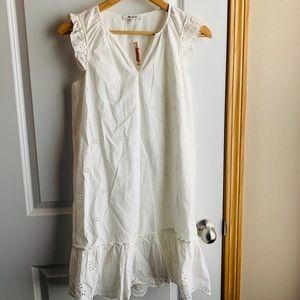 New Madewell white dress